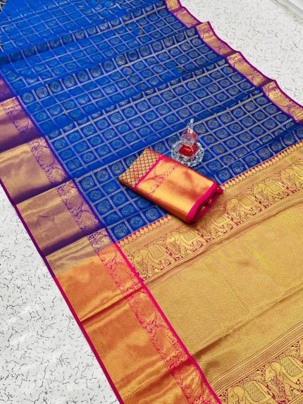 Banarasi weaving Silk Saree in Blue