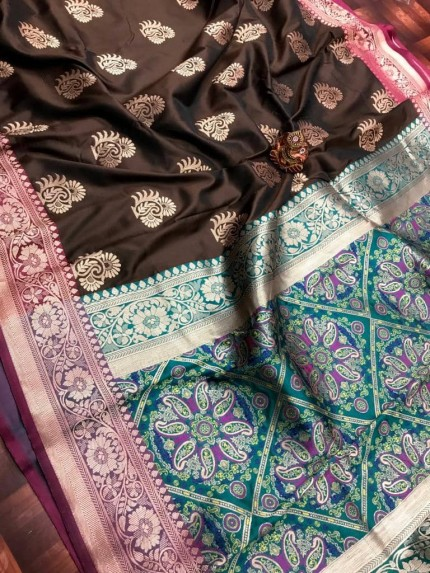 Branded Brown color saree by grabandpack