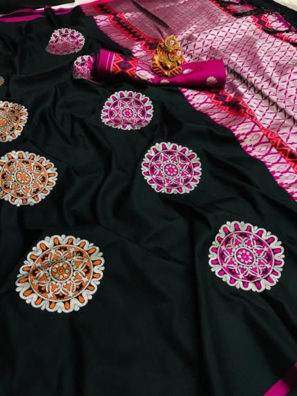 Black silk saree blouse designs grabandpack