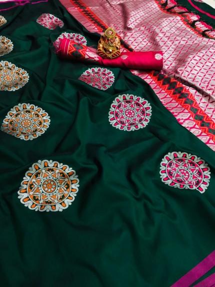 Green silk saree blouse designs grabandpack
