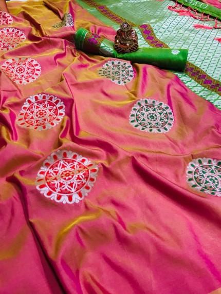 peach silk saree blouse designs grabandpack
