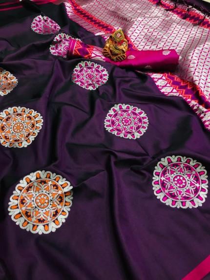 purple silk saree blouse designs grabandpack