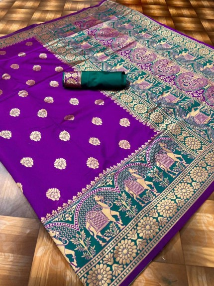 latest Purple beautiful sarees collection by grabandpack