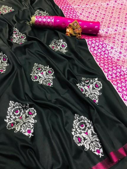 New Design Beautiful lichi silk saree