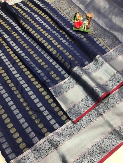 best saree in Blue coloured