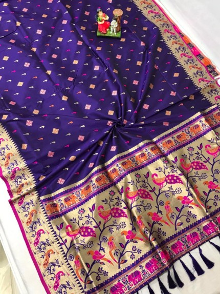 Best Blue saree in india by grabandpack