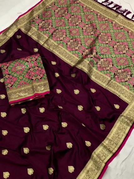 Patola weaving saree