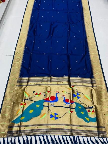 Gorgeous Blue Pethani Silk Traditional Saree