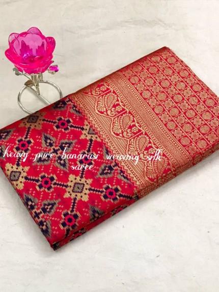 Gorgeous Heavy Banarasi silk woven saree