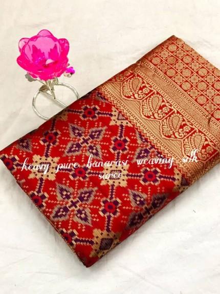 GrabandPack Gorgeous Heavy Banarasi silk woven saree