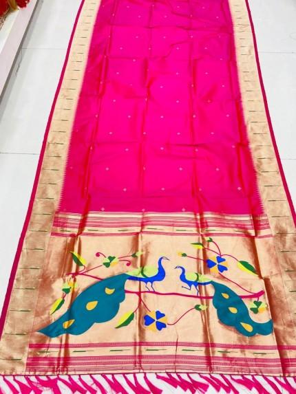 Gorgeous Pink Pethani Silk Traditional Saree