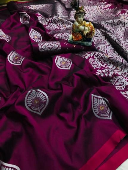 Soft Lichi Silk Traditional Saree