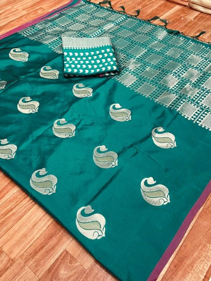 green silk saree online