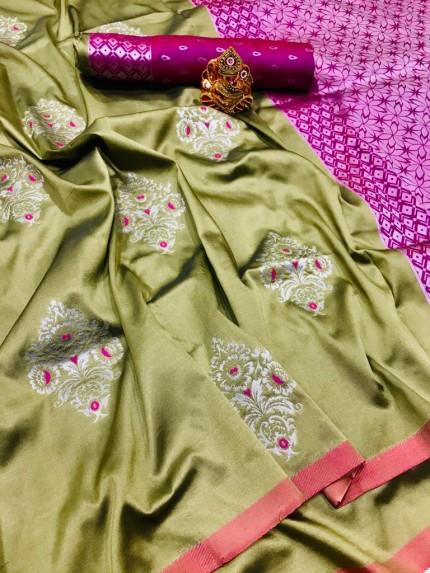 soft silk saree draping