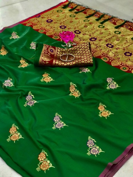 green saree look GrabandPack