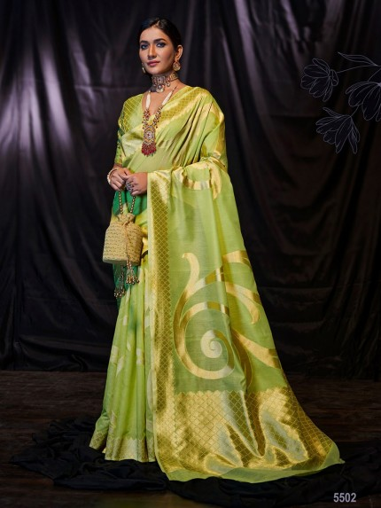 Green Soft Modal Cotton with Designer Weaving Saree - gnp0108875