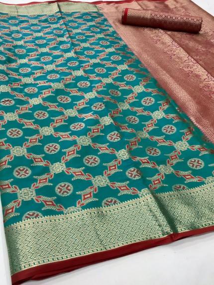 Green Soft zari Weaving Silk Patola Saree - gnp0108861