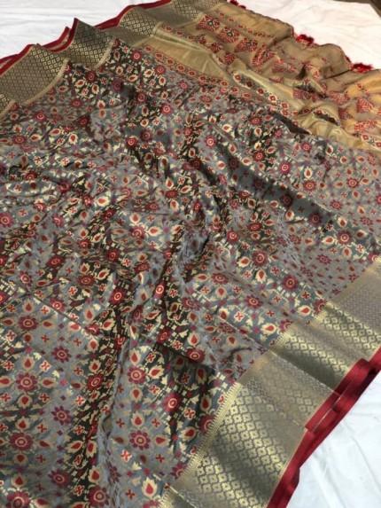 branded silk saree By GrabandPack