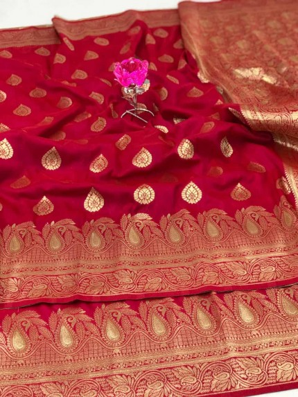 Banarasi Soft Silk Saree in Pink