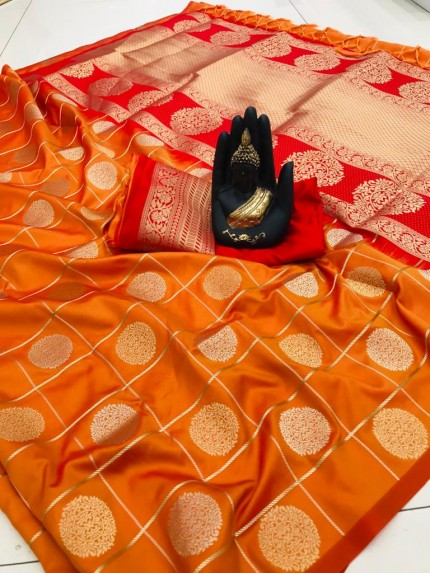 Orange coloured Hot saree