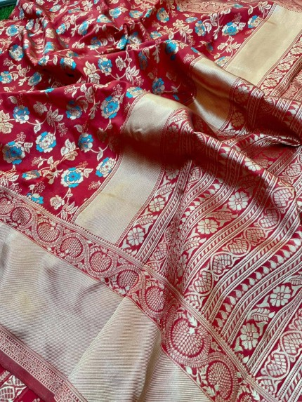 Red color indian saree online
