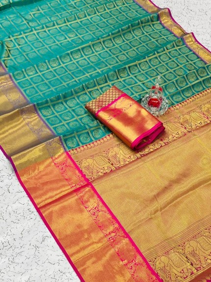 Green color saree grabandpack