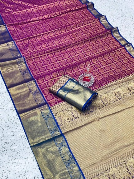 contrast colour for purple saree