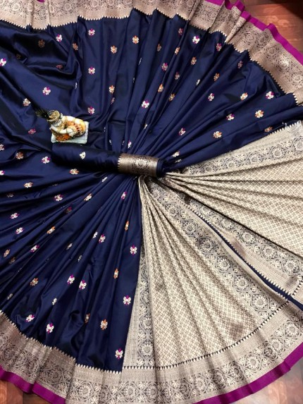 Lovely Yellow Lichi Silk Traditional Saree