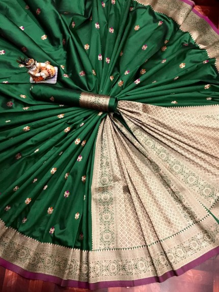 Lovely YellowLichi Silk Traditional Saree
