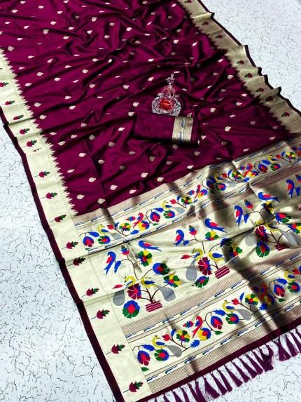 Pethani Silk Blend Festive Wear Saree