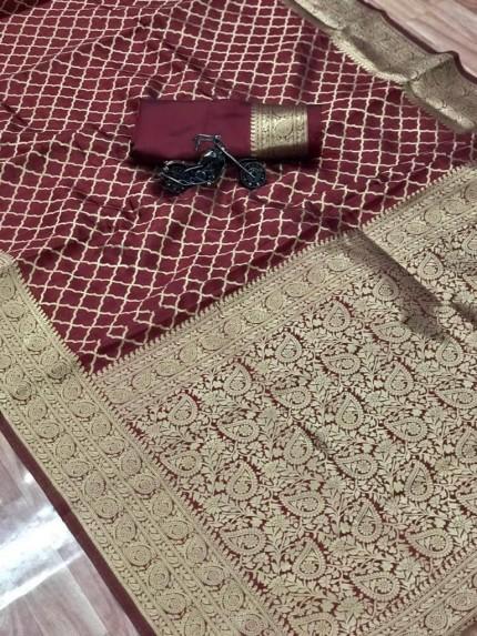 grabandpack maroon saree 2021