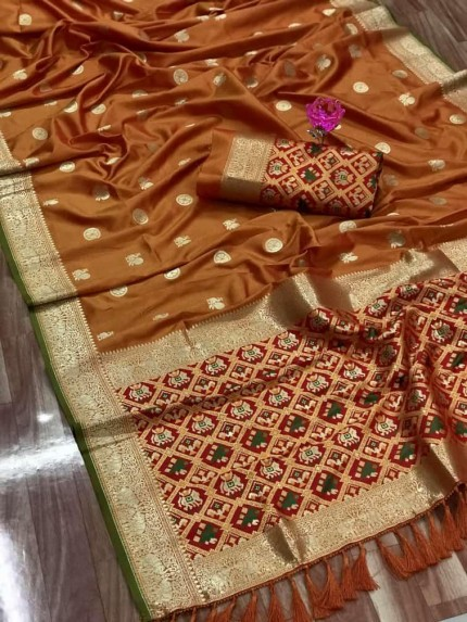 grabandpack Best Brown coloured saree india