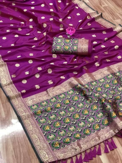 Best purple coloured saree at grabandpack