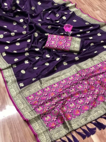 grabandpack Best purple coloured saree india