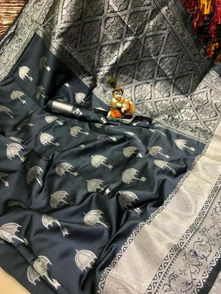 Grey saree colour
