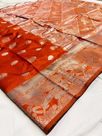 Horse Printed Woven silk saree