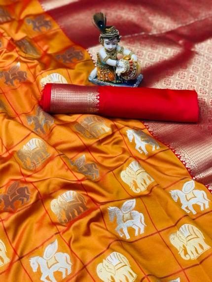latest soft silk sarees at grabandpack