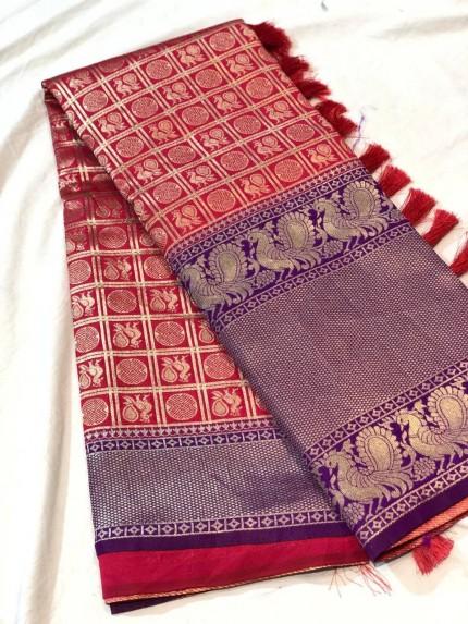 kanchipuram silk saree design