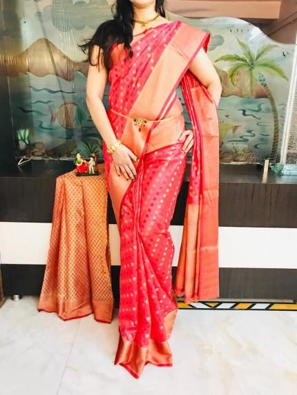 Pink Dola butti Saree With Heavy Rich Pallu - gnp009526