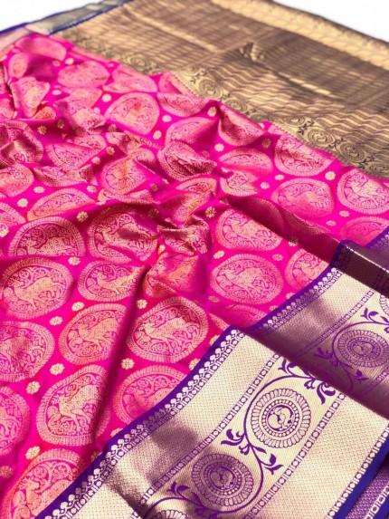 Kanchipuram silk saree #saree