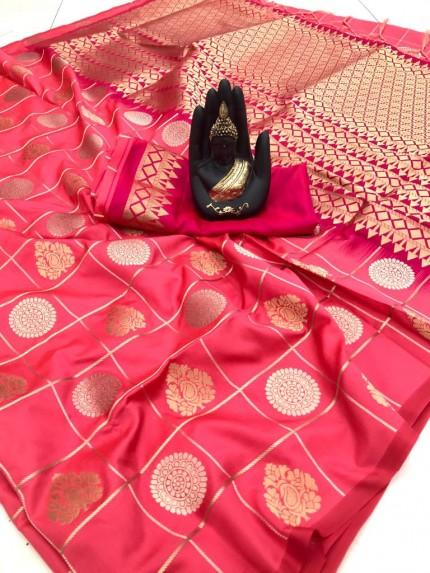 Pink coloured Hot saree
