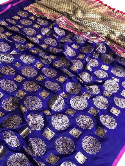 Banarasi silk zari woven saree gnp009398 - Grabandpack.com