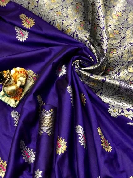 Lichi Silk With Weaving Zari Designer Saree