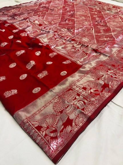 silk saree red colour