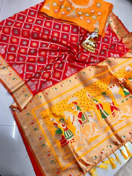 Red south indian traditional sarees online