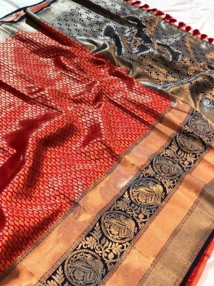 Women's Jacquard Traditional Saree