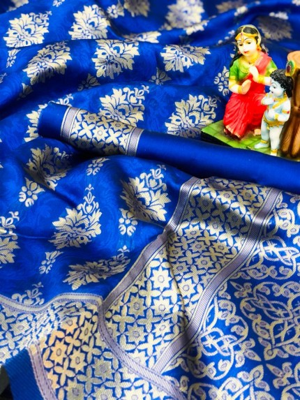 Soft Banarasi Silk Saree in Blue