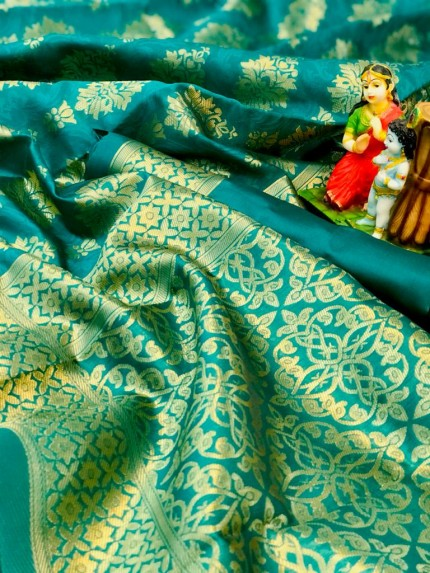 Soft Banarasi Silk Saree in Green