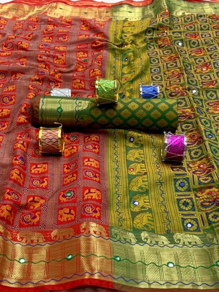 sophisticated soft Patola silk Traditional saree