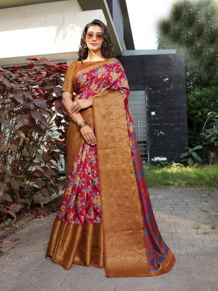 Sr Brand fancy soft cotton sarees online shopping from grabandpack